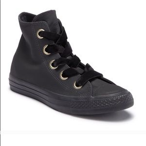 NEW Leather Converse with Velvet Laces